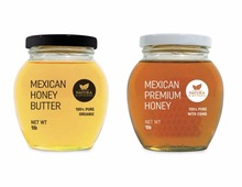 Mexican Organic Raw Honey Butter and Raw Honey with Comb