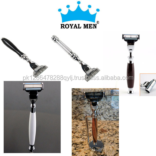 Royal Men stainless steel black matt shaving stand kit de safety razor and shaving brush