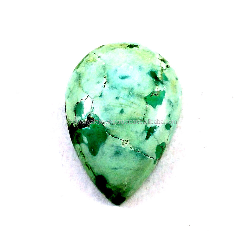 Wholesale Turquoise Pear Shape Cabochon Suppliers 18x26 mm Loose Gemstone