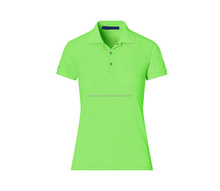 Best quality women blank cotton polo t shirt