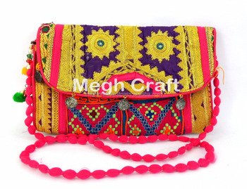 Vintage Afghan Kuchi Coin clutch- Tribal Handmade Banjara Coin Clutch-Gypsy Banjara Coin Clutch