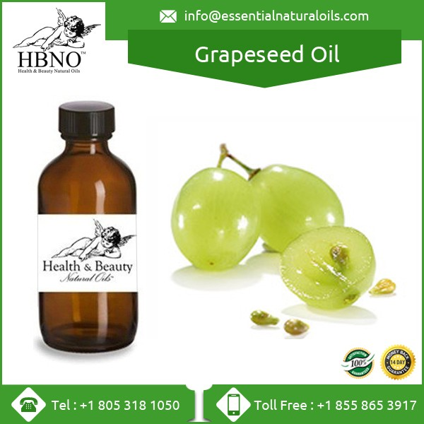 100% Pure Natural Organic Cold Pressed Grape Seed Oil