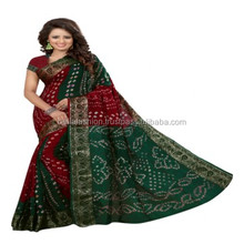 Latest Indian Wonderful Color Traditional Festival Looking Printed Bandhej Designer Bandhani Sarees in Wholesale