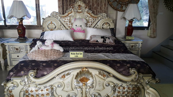 SOLID WOOD BED, LUXURIOUS NIOBE BED ROOM SET