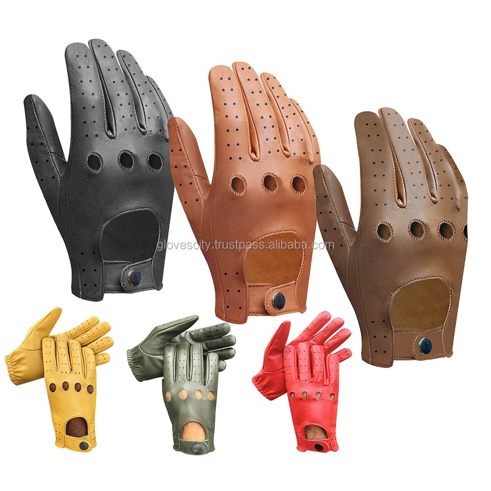 MEN Fashion Style Leather Car DRIVING GLOVES,Leather Driving gloves Men's