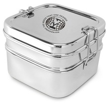 single tier colour tiffin/ steel storage box/ steel round lunch box with lock