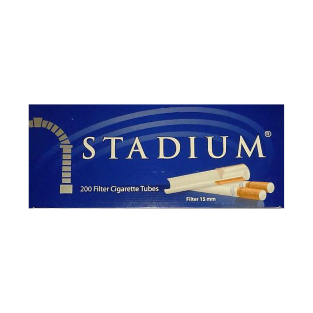 200x STADIUM Empty Tobacco Cigarette Filter Tubes King Size, Filter 15 mm, CUSTOM DESIGN Available!