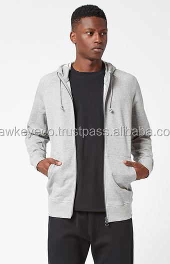 White Front Zipper hoodies & sweatshirts Manufacture by Hawk EyE Co.
