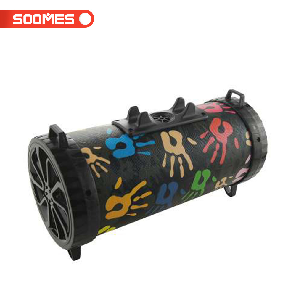 Soomes hot sell good cloth fabric portable wireless mini bluetooth speaker enjoy music anytime anywhere