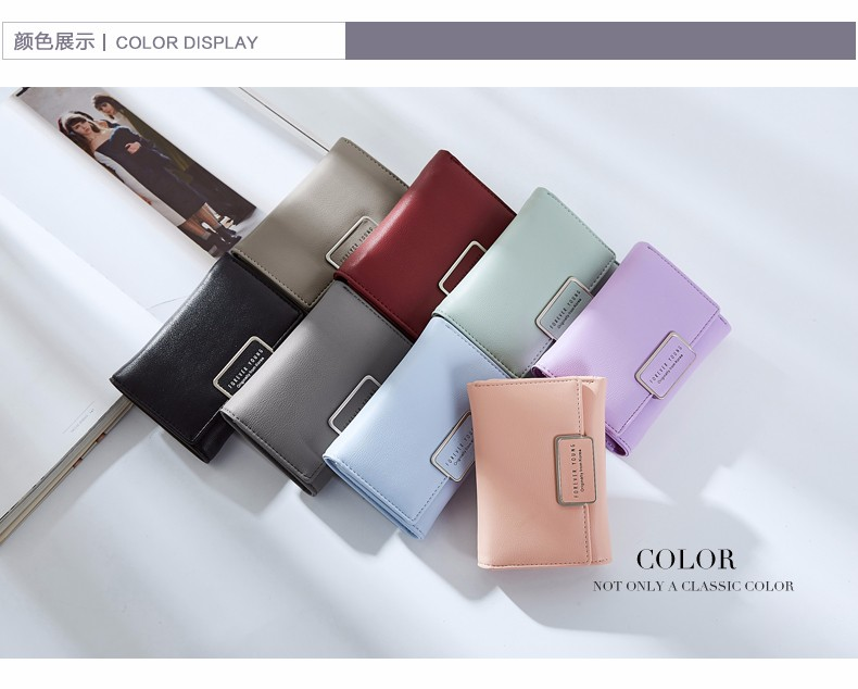 Latest Korean Trend Design Women Short Wallet Hand Purse
