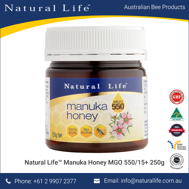 Pure Manuka Honey (MGO 550/ UMF 15+) 250g