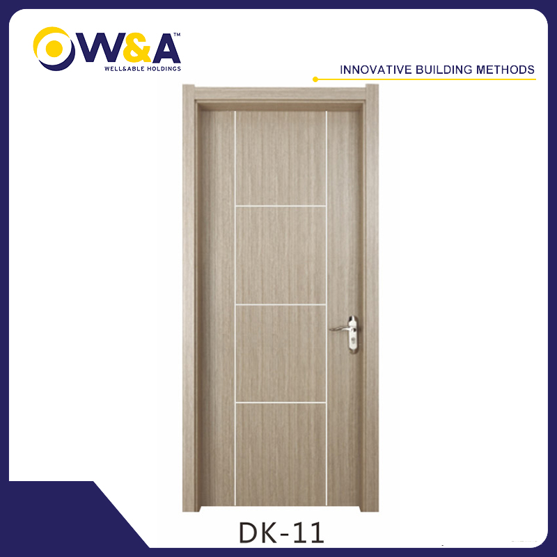 China Melamine White Carved WPC Interior Solid Wood Doors Manufacturer