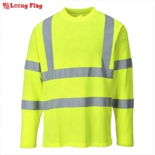 high quality orange yellow <strong>safety</strong> reflective hi vis T Shirt