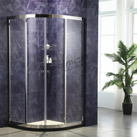 Easy Clean Sliding luxury shower cabin Sector base shape cubicle shower room