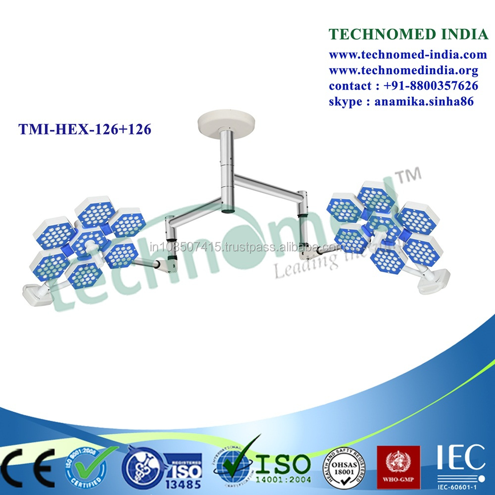 2017 surgery light from India,New double head led operation theatre light,high quality TECHNOMED brand ot led light