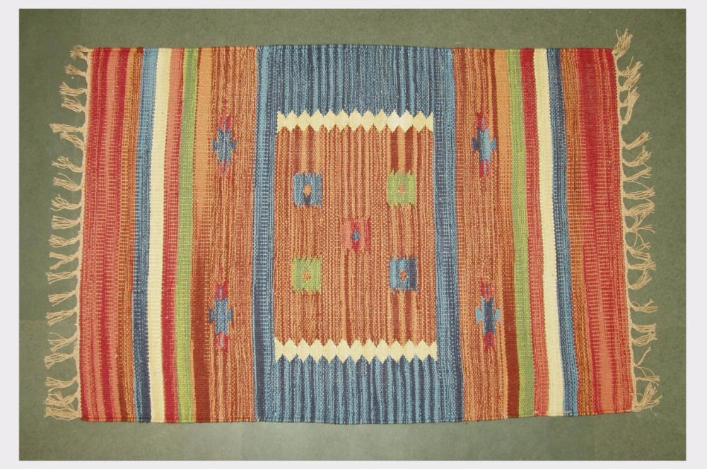 HAND MADE HAND WOVEN WOOL COTTON RUGS DHURRIE