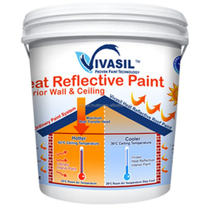VIVASIL HEAT REFLECTIVE INTERIOR AND EXTERIOR WALL PAINT ADVANCE BREATHABLE SILICONE TECHNOLOGY PAINTS