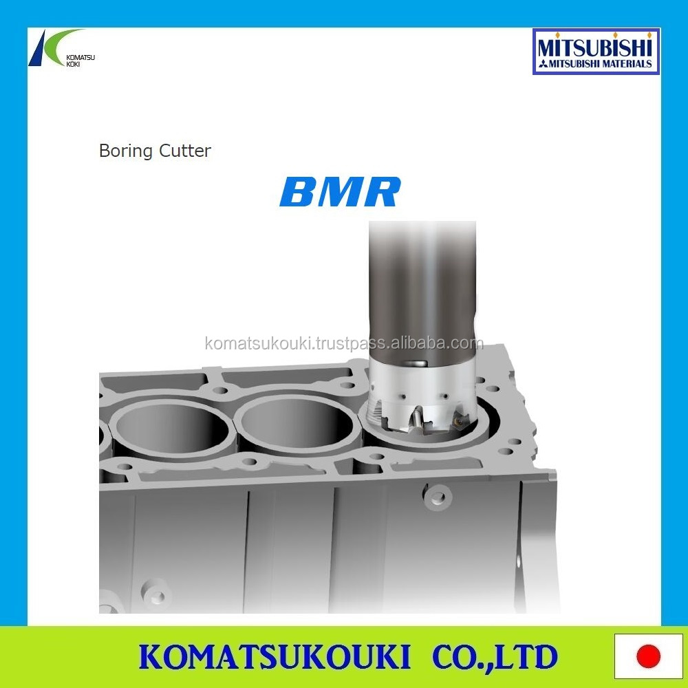 Hot sale Mitsubishi BMR boring cutter for cylinder block, hexagonal double-sided insert with high efficiency and low cost