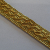 Gold Mylar B&S Lace, Army Braid, Military, Uniform Braid