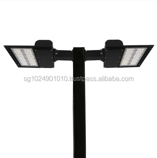 LED Pole Kit with Two 150 Watt LED Lights, 15-25 Foot Pole Height Options