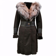 High Quality long leather fashion coat s