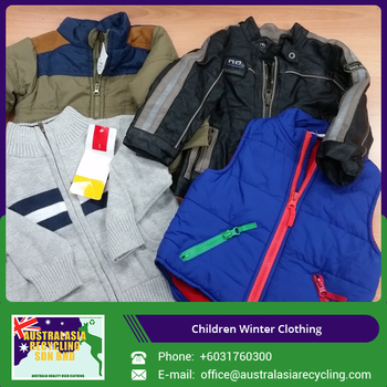Widely Selling Used Winter Clothes for Children at Low Price