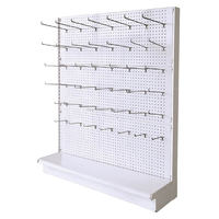 White Color Metal Supermarket Gondola Shelving Systems Small Mini Perforated Gondola Display Rack
