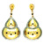 Antique Vintage & Victorian 14k Yellow Gold Diamond Dangle Earrings