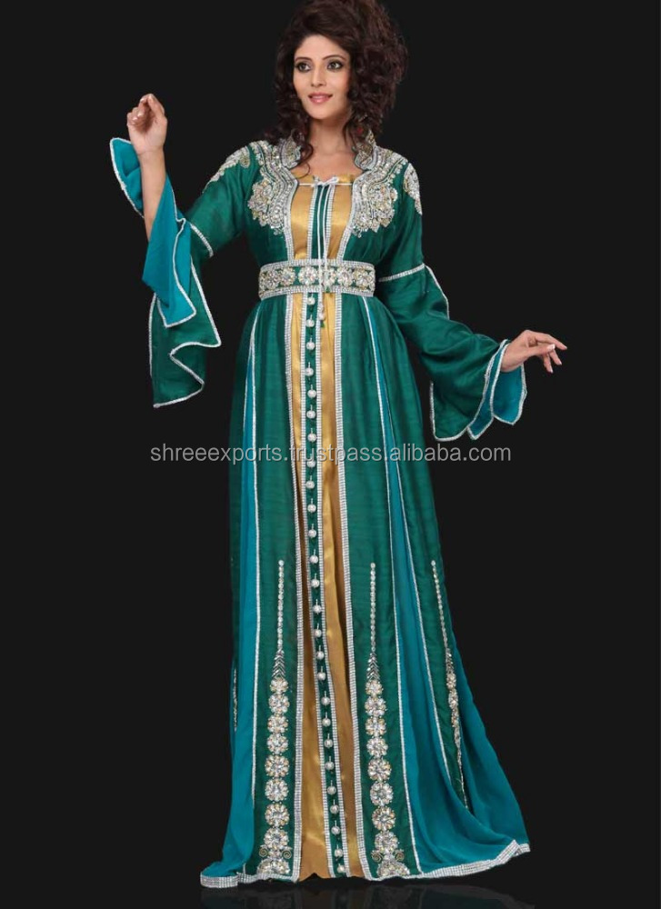 Teal Georgette Kaftans At Wholesale Price / Kaftans Wholesale India / Kaftans Made In India