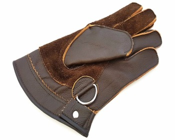 Quality Double Layer Genuine Leather Falconry Short Gloves/Bird Handling Gloves/Pet Gloves.
