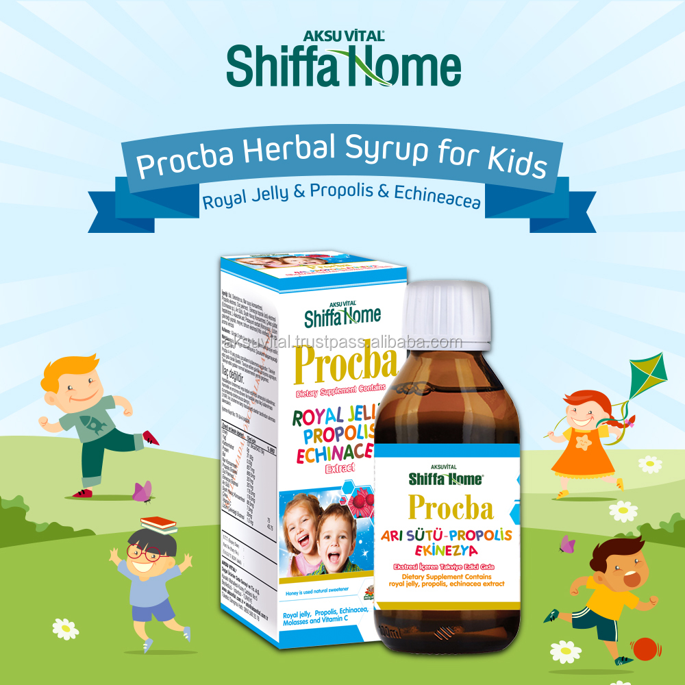 PROCBA Productive Cough Syrup for Children Vitamin C , Honey + Propolis Extract + Echinacea Extract Honey Flavoured Syrups