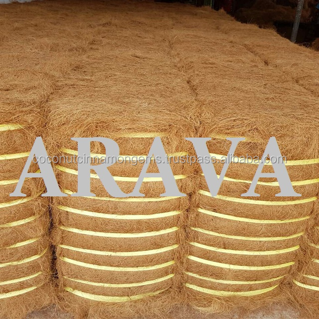 Coir fibre is the outer husk of the coconut and a waste product of the coconut industry