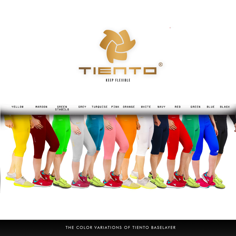 Tiento Unisex Baselayer Tight Compression Leggings Half Pants All Sports