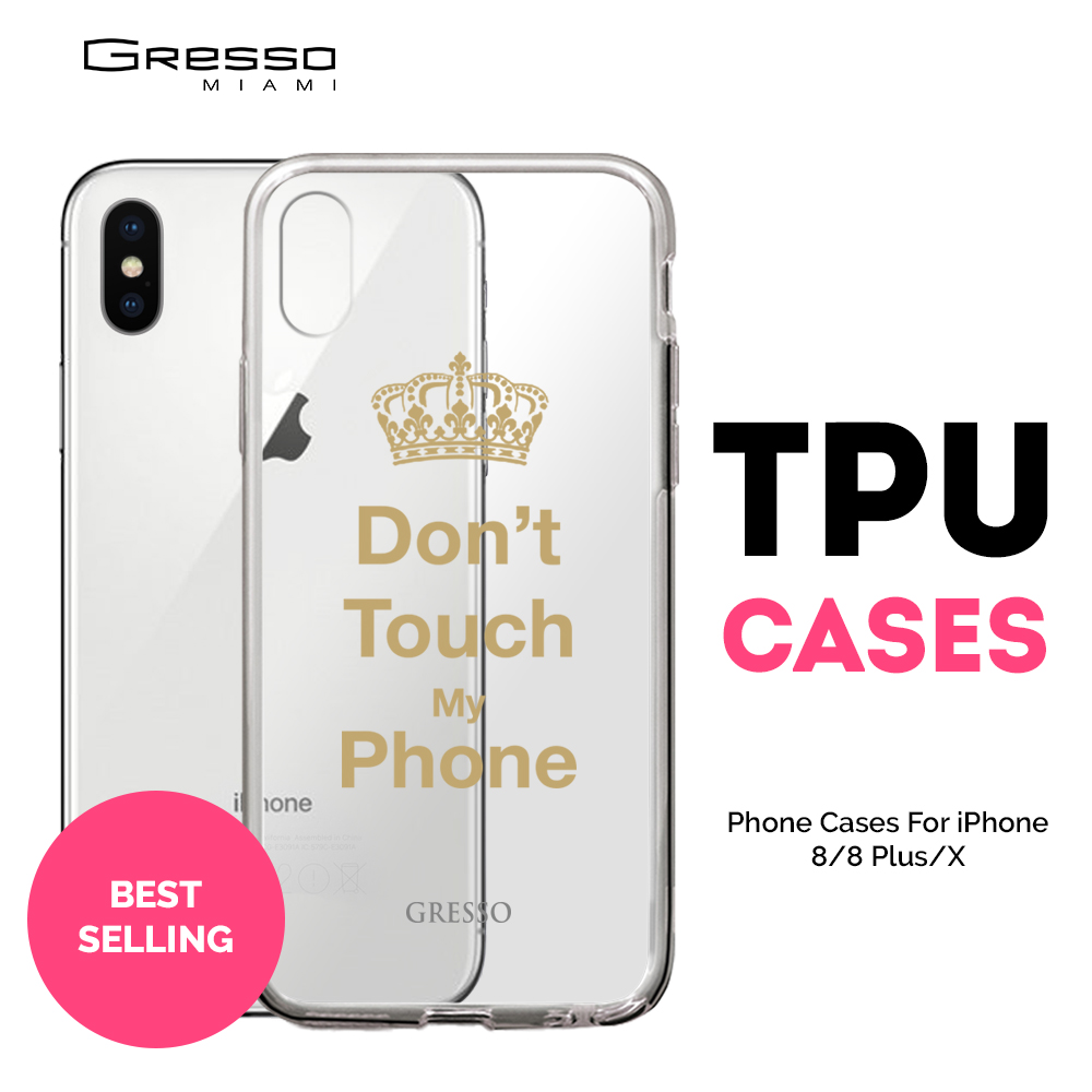 Transparent TPU Mobile Wallet Case for iPhone X 10 Plus with Creative Words Design Wholesale Custom