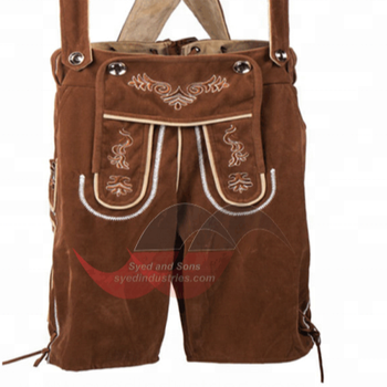 Oktoberfest Bavarian Leather Trouser with Thick inner lining