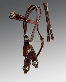 Leather Headstall with Tooling