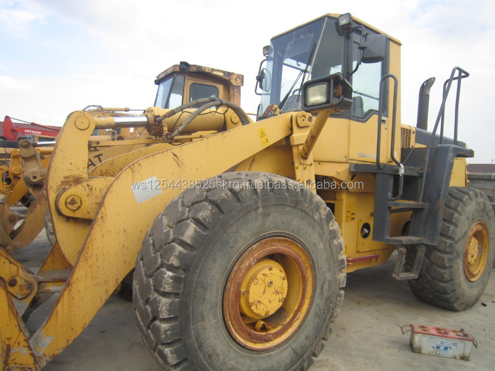 cheap price used komatsu wa420 front wheel loader