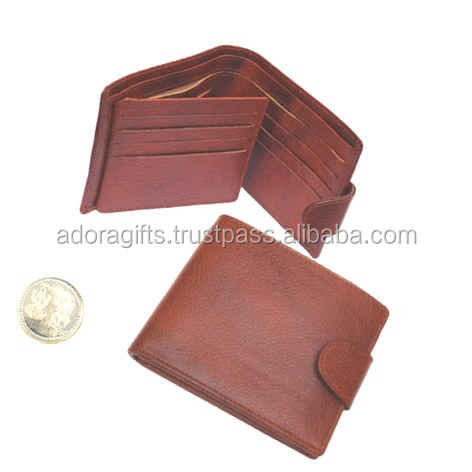 Customized gent bifold split genuine leather money wallet 100% handmade for holding cash and credit cards rfid