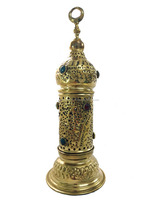 BR50 Handmade Arabic Tower Table Lamp Incense Burner Candle Holder