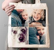 photo design transfer sticker printed canvas bag