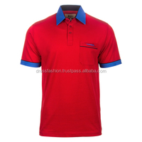 Men's Pique Polo with Contrast Collar and Cuff 180gsm