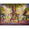 Traditional Market Painting - Wholesale Best Selling Original Hand Painted Oil Color On Canvas Wall Art Modern Home Decoration