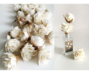 Damask rose sola flower for reed diffuser home fragrance .