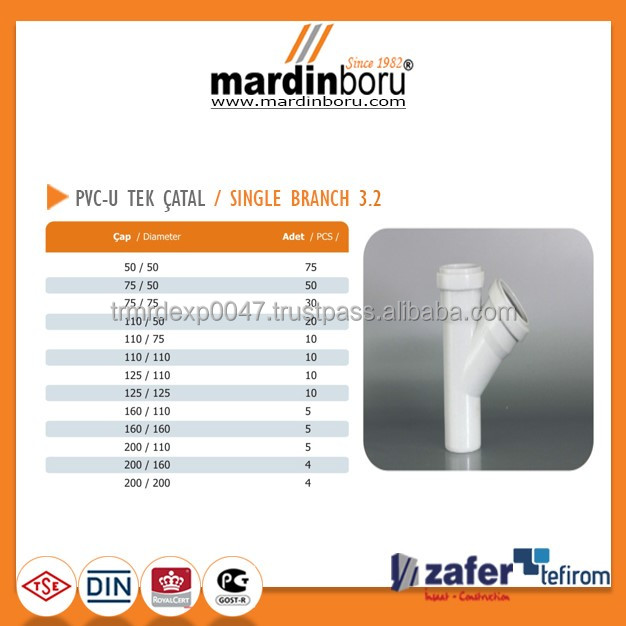 PVC Single Branch 45 Degree 3.2
