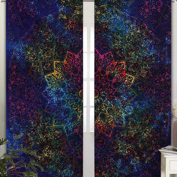 Indian Beautiful Star Mandala Home Decorative Curtains Set Window Balcony Wall Hanging Door Curtains