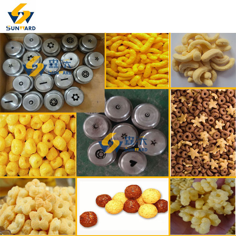 Automatic Stainless Steel Corn Puffs Extrusion Line Machinery Equipment Plant