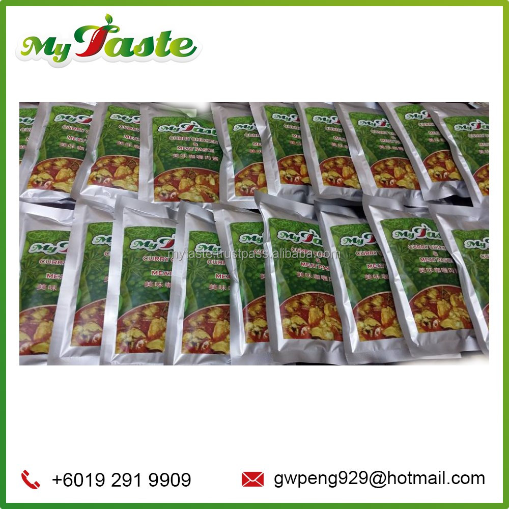 High Quality Processing Malaysia Made Instant Curry Chicken and Meat Paste Herbs and Spices