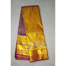 Indian Traditional Art Handmade Heavy Zari Work Pure Kanchipuram Silk Saree