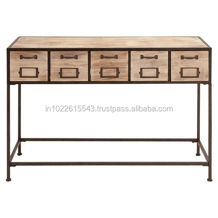 Wood Metal Contemporary Console Tables ,Bartlett Rustic Lodge Wood Metal Console Table