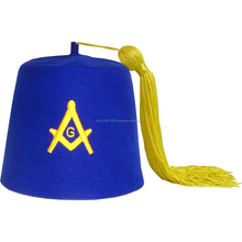 Fez & Fraternal Hats with embroidered Emblem